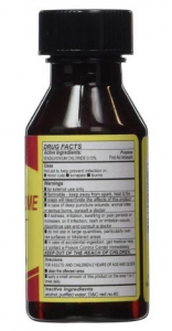 merchurochrome bottle to treat Aeromonas